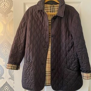 Burberry Quilted Jacket. Black Size Large